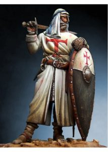 Holy Land Templar Knight with turban, XIII Century