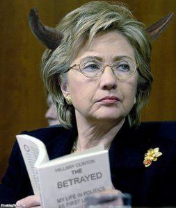 HillaryClintonwithDevilHorns39213