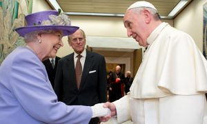 Queen and Pope Francis at the Vatican