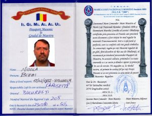 Pa_aport Masonic Maestru Nicola Bizzi